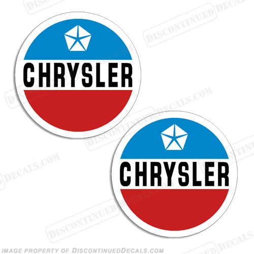 Chrysler Logo Emblem Boat Decals (Set of 2)