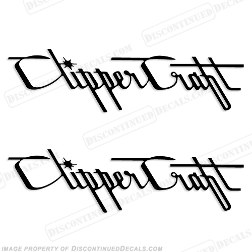 Clipper Craft Boat Decals - (Set of 2) Any Color!
