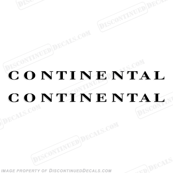 Continental Boat Trailer Decals (Set of 2) - Any Color!
