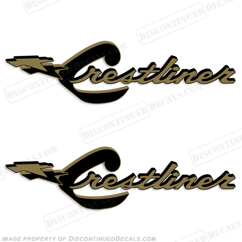 Crestliner Boat Decals (Set of 2)