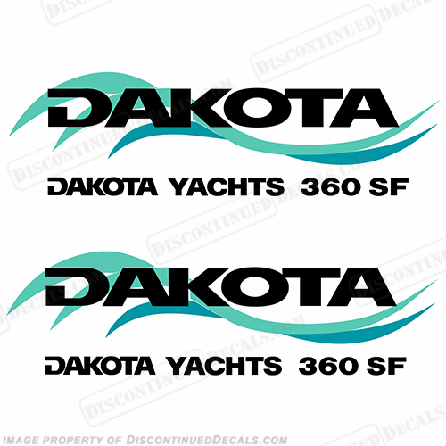 Dakota Yachts Logo Decals (Set of 2)