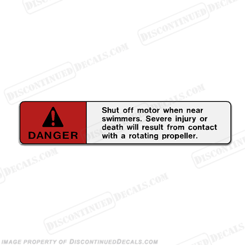 "Warning Decal - Danger ""Shut off motor..."""