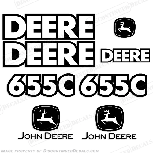 John Deere 655C Track Loader Decal Kit