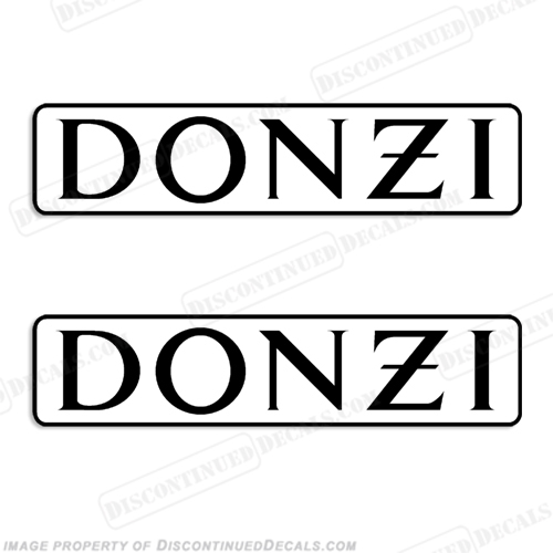 Donzi Boat Logo Decal - Any Color!