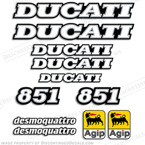 Ducati 851 Decal Kit - 1991-1992