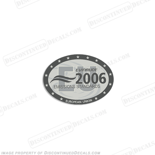 "Evinrude Single ""2006 Emissions European Union"" Decal"