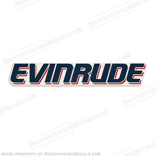 """Evinrude"" Large Side Single Decal"
