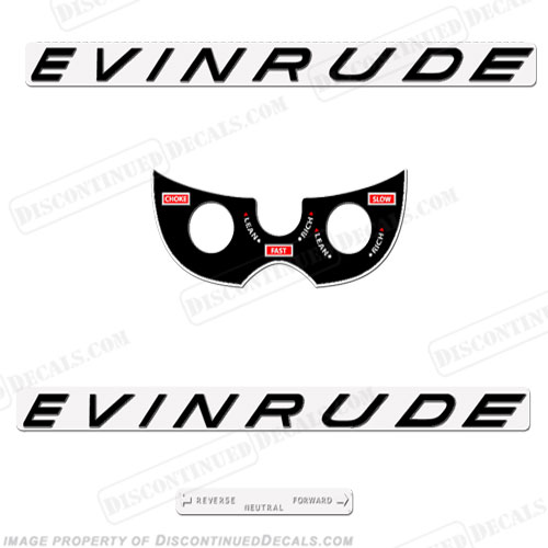 Evinrude 1963 10hp Decal Kit