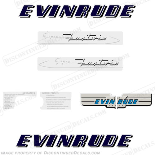 Evinrude 1953 15hp Decal Kit