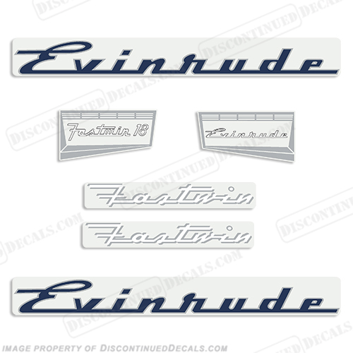 Evinrude 1957 18hp Decal Kit