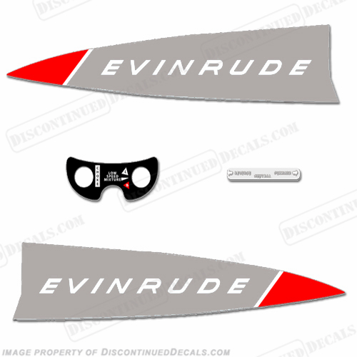 Evinrude 1965 18hp Decal Kit