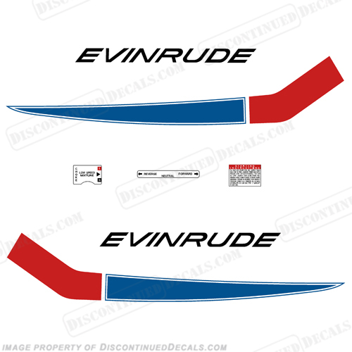 Evinrude 1968 18hp Decal Kit