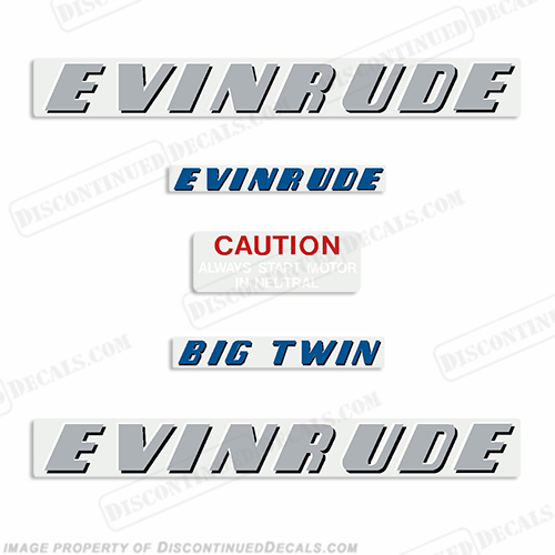 Evinrude 1952 25hp Decal Kit