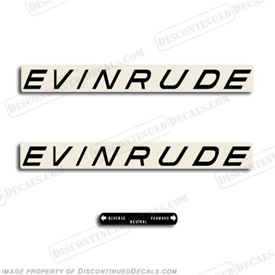 Evinrude 1963 28/35/40hp Decal Kit