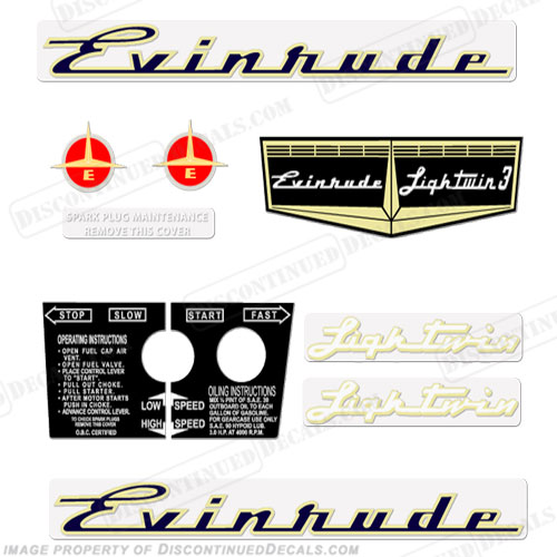 Evinrude 1957 3hp Decal Kit
