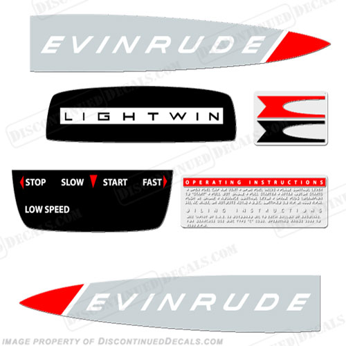 Evinrude 1965 3hp Decal Kit
