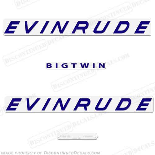 Evinrude 1961 40hp Decal Kit