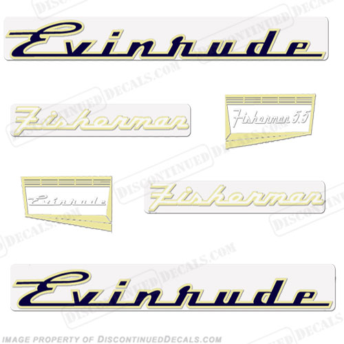 Evinrude 1957 5.5hp Decal Kit