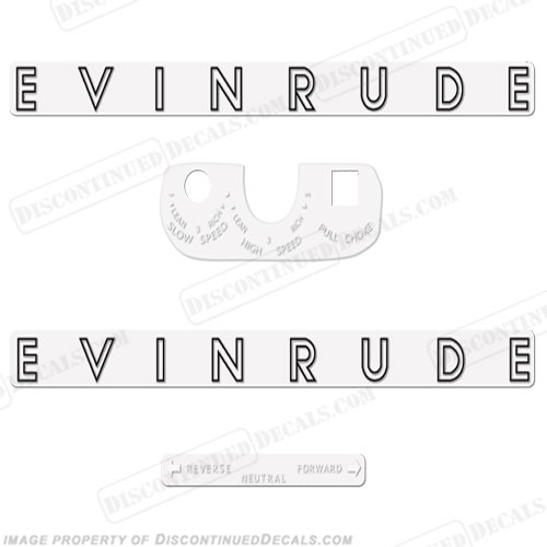 Evinrude 1962 5.5hp Decal Kit