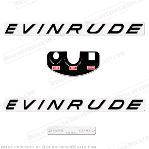 Evinrude 1963 5.5hp Decal Kit