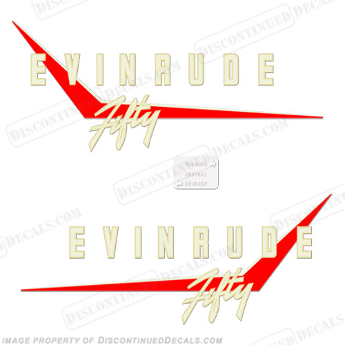 Evinrude 1958 50hp Decal Kit