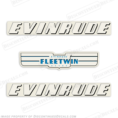 Evinrude 1950 7.5hp Decal Kit