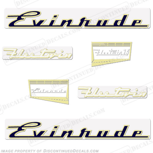 Evinrude 1957 7.5hp Decal Kit