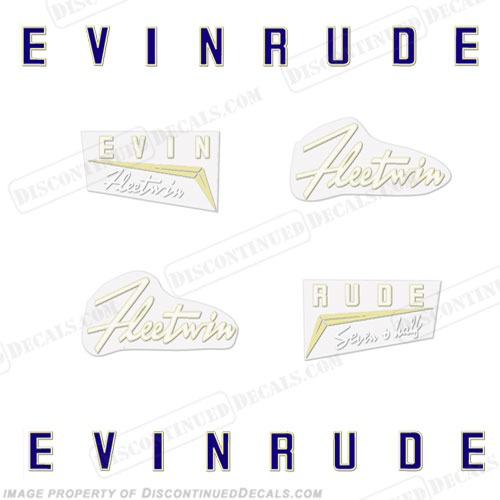 Evinrude 1958 7.5hp Decal Kit