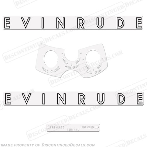 Evinrude 1962 8hp Decal Kit