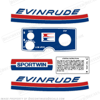 Evinrude 1969 9.5hp Decal Kit on