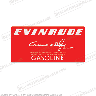 Evinrude 1953-1956 4 Gallon Fuel Tank Decal