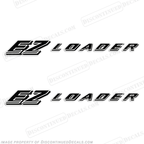 EZ Loader Trailer Decals - Style 2 (Set of 2) - Any Color! e z, e-z, easy loader, style2