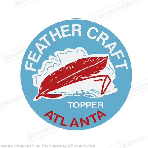 "Feather Craft Topper Boat Decal - 3.5"" Round"