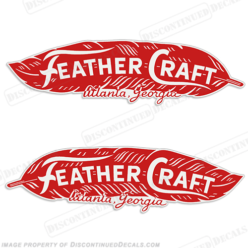 Feather Craft Atlanta Georgia Decals (Set of 2)