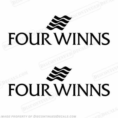 Four Winns Boat Logo Decals (Set of 2) - Any Color - Style 1
