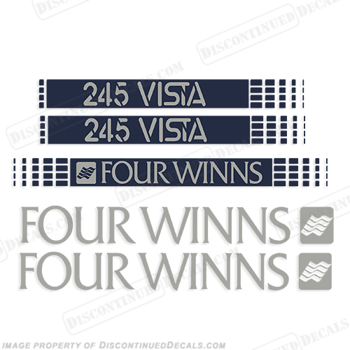 BOAT DECALS FOUR WINNS Set of 4 DECALS