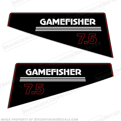 Gamefisher 7.5hp Outboard Decal Kit 7.5 hp