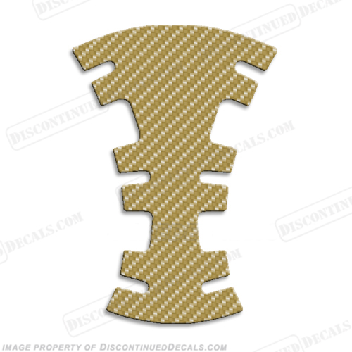 Gas Tank Protector - Carbon Fiber (Any Color!) - Carbon Fiber - Gold