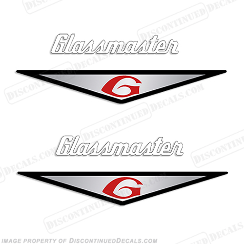 Glassmaster Boat Decals (Set of 2) - Chrome