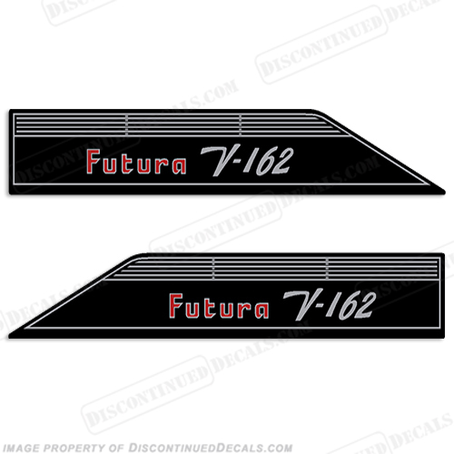 Glastron Futura V-162 Boat Decals (Set of 2) - 1973