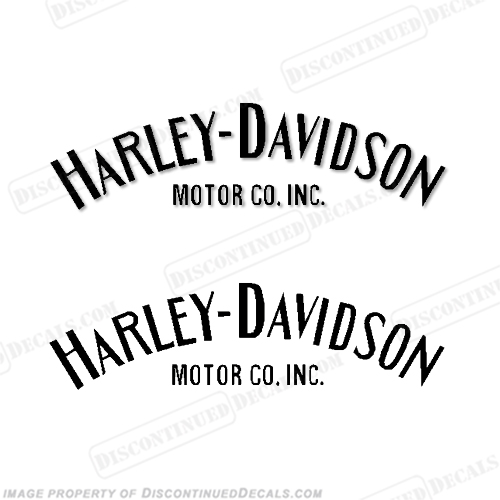 Harley-Davidson Fuel Tank Decals Single Color (Set of 2) - Style 1 - Any Color