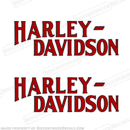 Harley-Davidson Fuel Tank Motorcycle Decals (Set of 2) - Style 14