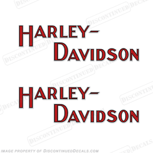 Harley-Davidson Fuel Tank Motorcycle Decals (Set of 2) - Style 5