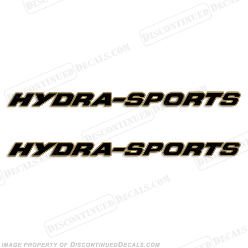 HydraSports Boat Logo Decal 2-Color (set of 2)