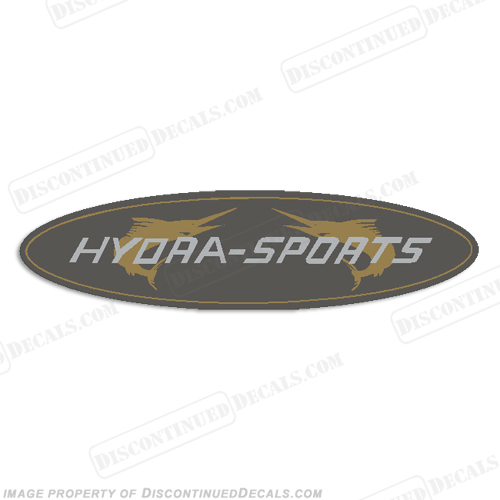 "HydraSports Boat Oval Logo Decal - 6"" long"
