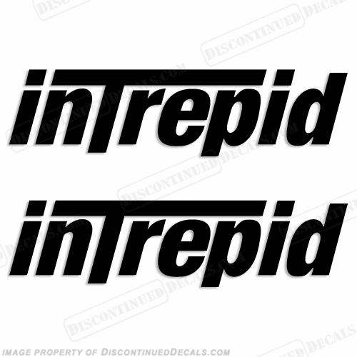 Intrepid PowerBoats Logo Decals (Set of 2) - Any Color!