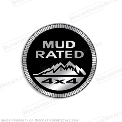 "Jeep ""Mud Rated 4x4"" Decal"