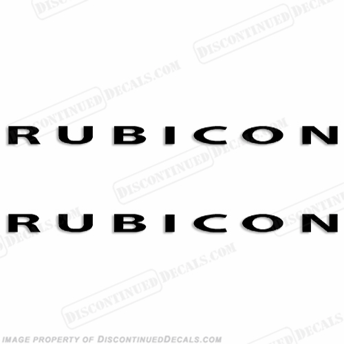 "Jeep ""RUBICON"" Decals (Set of 2)"