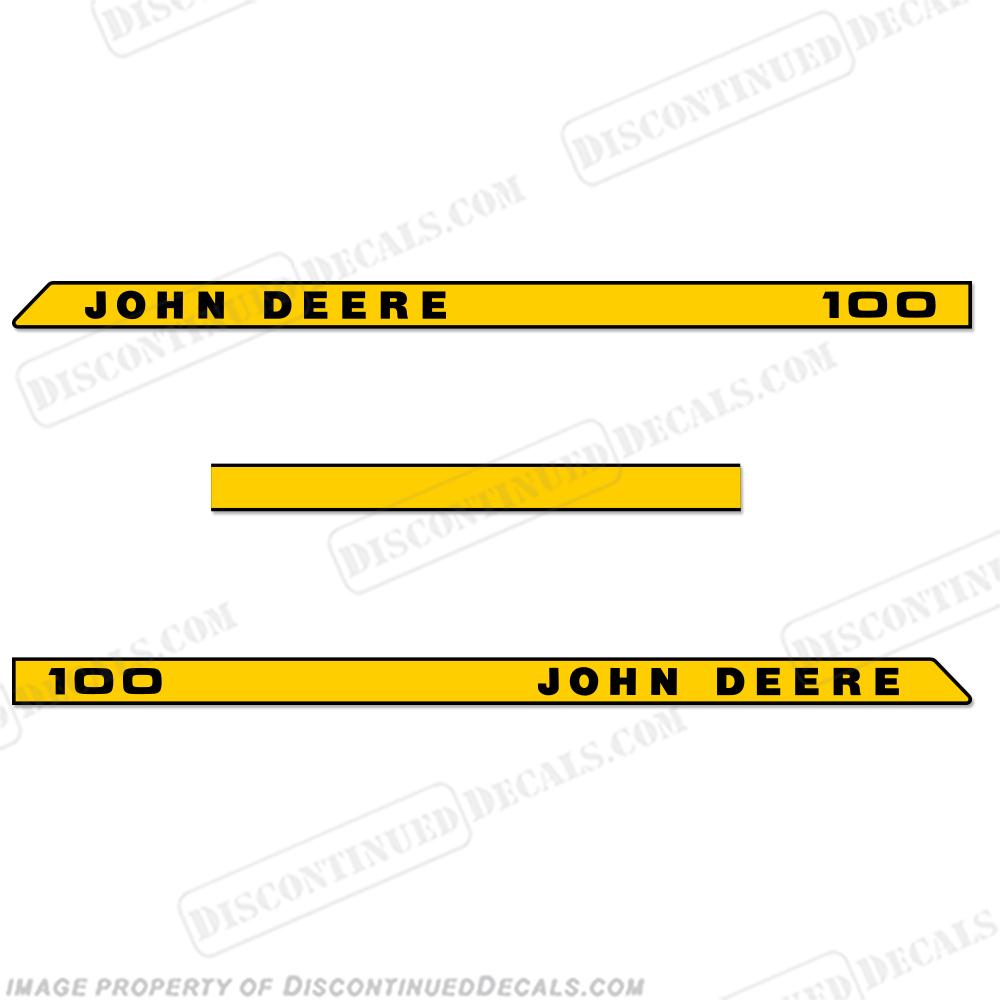 John Deere 100 Riding Lawn Mower Decals