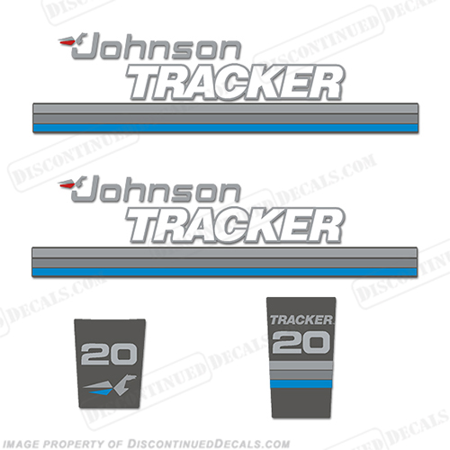 Johnson Tracker 20hp Decal Kit - Blue